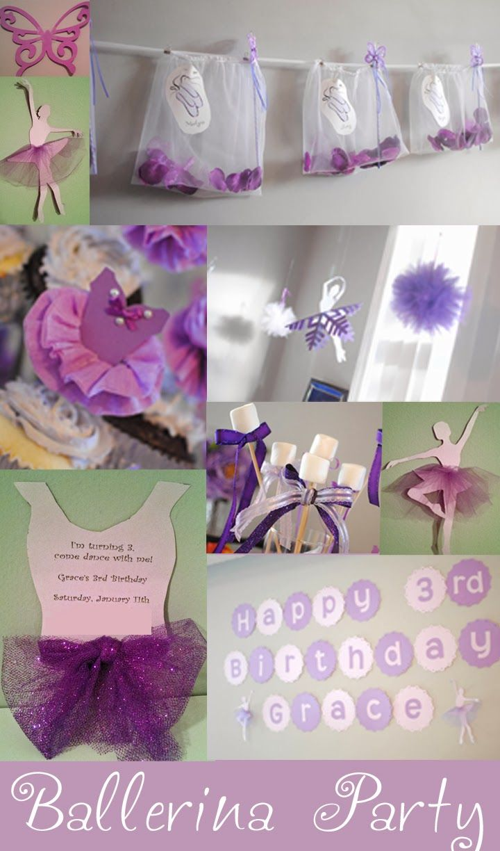 Ballet Birthday Party-I would want the colors to be blue/green/purple
