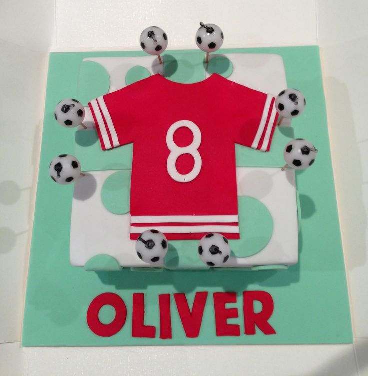 Soccer cake for 8th birthday