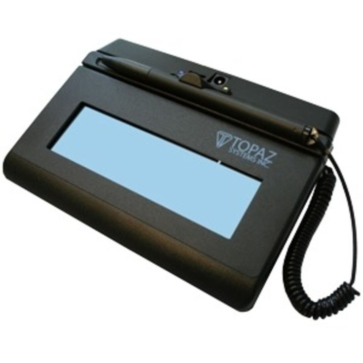 Topaz SigLite T-LBK460-BT2-R Signature Pad - Signature PadLCD - 4.40 x 1.40 Active Area LCD