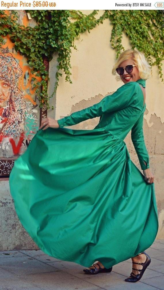 SALE 20% OFF Extravagant Emerald Top Flared Cotton Blouse https://www.etsy.com/listing/467966764/sale-20-off-extravagant-emerald-top?utm_campaign=crowdfire&utm_content=crowdfire&utm_medium=social&utm_source=pinterest