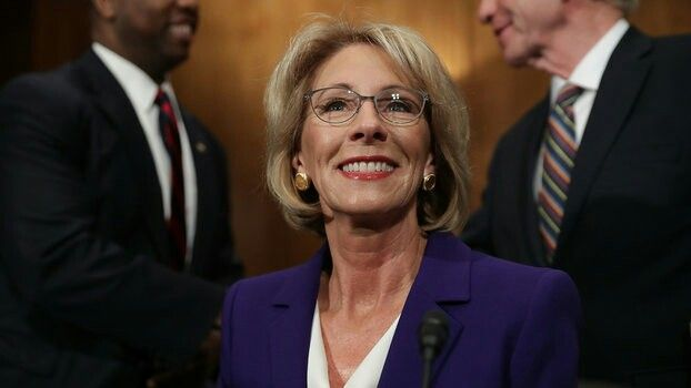 BETSY DEVOS. UNQUESTIONABLY UNQUALIFIED FOR THE JOB! MONEY BOUGHT THIS JOB! TRUMP SUCKS.