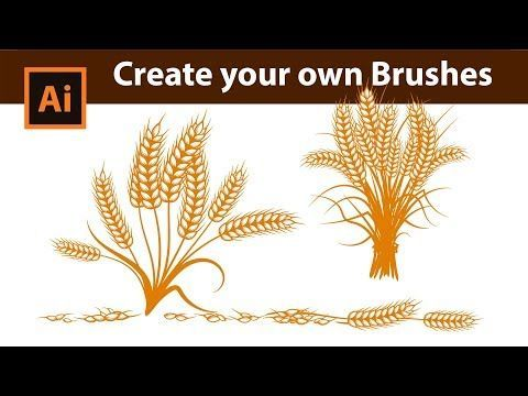How to create Custom Wheat Brushes in Adobe Illustrator - YouTube