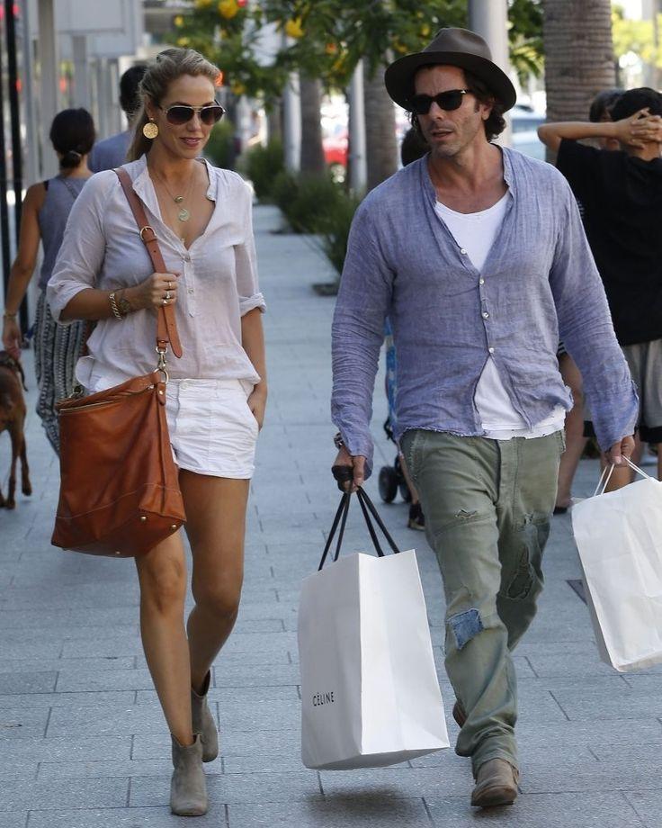 Elizabeth Berkley & Her Husband Get Some Shopping Done