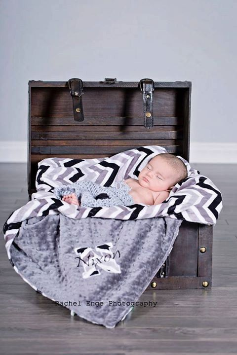 Minky Blanket  Personalized baby blanket  Charcoal by KnuffelStuff