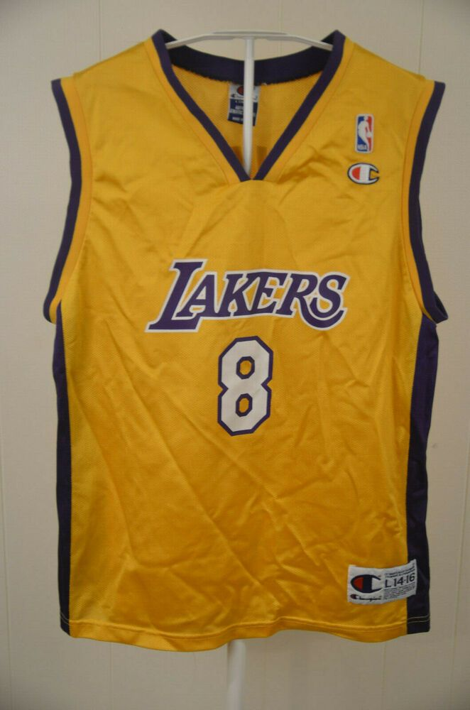 super popular e7463 a1e0b Vintage Champion Los Angeles Lakers Jersey #8 Kobe Bryant ...