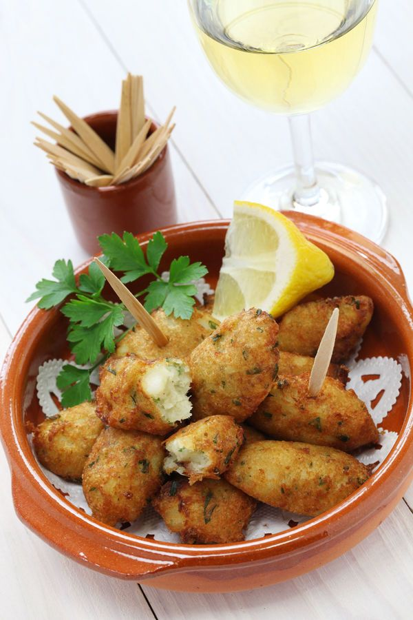 Appetizer Recipe: Spanish Salted Cod Fritters  I am going to do this with speckled trout
