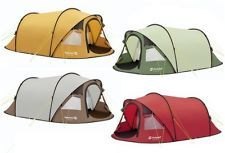 OUTWELL FUSION 400 SMART TUNNEL POP UP TENT 4 BERTH CAMPING/CAMP VARIOUS COLOURS