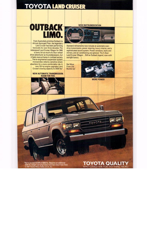 1988 toyota land cruiser national geographic september 1988