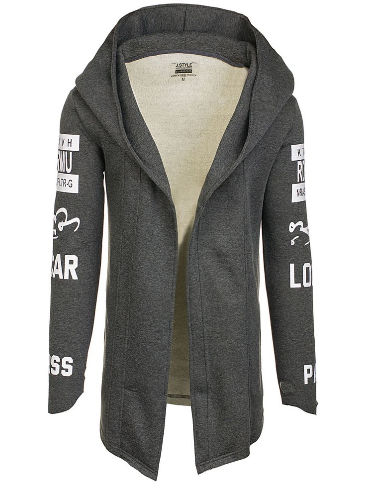 Graphite men's sweatshirt Manufactured for Bolf by J.Style The model (182 cm, 82 kg) is wearing size XL Fabric: 65% Cotton, 35% Polyester