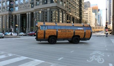 The Barrel Run Trolley Bus Chicago takes guests on an a Prohibition themed experience, tasting and touring Chicago's best breweries, distilleries, and wineries.