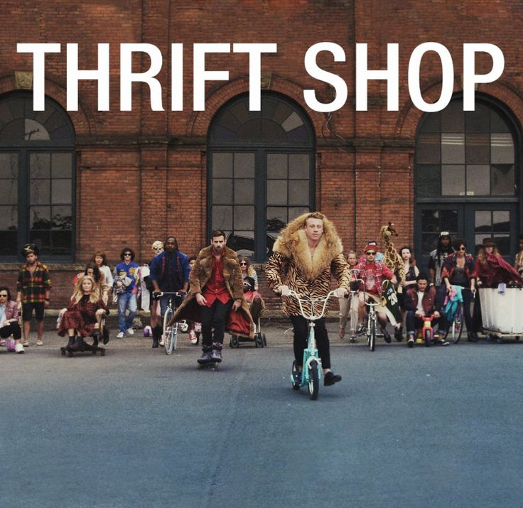 Macklemore & Ryan Lewis: Thrift Shop Cover-Titelfont: Helvetica