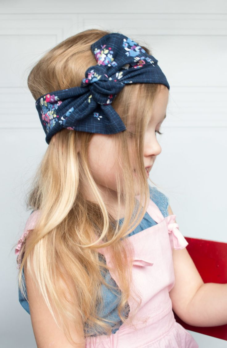 Top Knot Bow Head Wrap Sewing Tutorial   – baby ideas