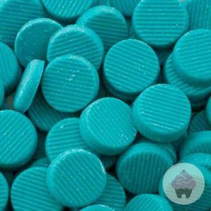 Smeltchocolade pastelblauw