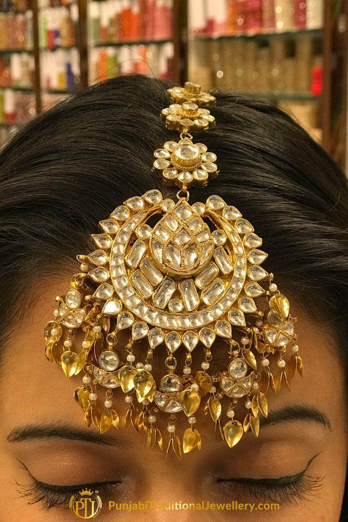 6536cd48f Gold Finished Pippal Patti Kundan Tikka By Punjabi Traditional Jewellery