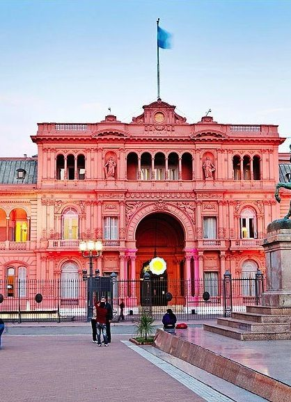 Argentina's White House is the Pink House/Casa Rosada. Buenos Aires Argentina.