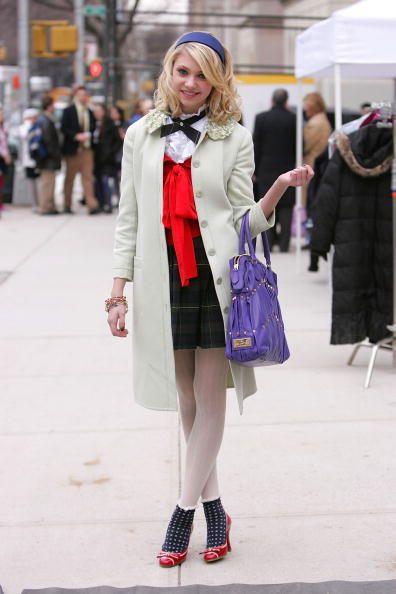 Gossip Girl - collant bianchi