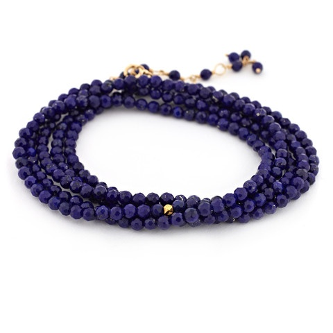 Gold Tied Gemstone Bracelet. Available in your choice of gemstone: Hematite, Pyrite, Spinel, Lapis, Peridot, Iolite, Amethyst, Bamboo, Cubic Zirconia, Turquoise, Pearl, Green Onyx or Carnelian.