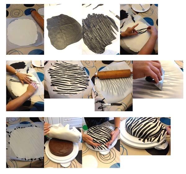 zebra fondant made easy