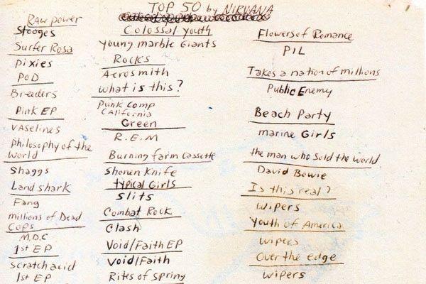 Cobain Top 50 albums via kottke