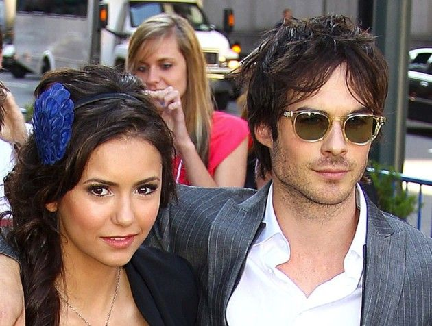 """Ian Somerhalder and Nina Dobrev, She's a babe, I'm a babe,"""" Iv'e got you babe""""(sonny and cher reference) get it?"""
