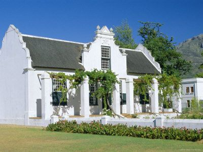Cape Dutch Architecture, Stellenbosch, South Africa.