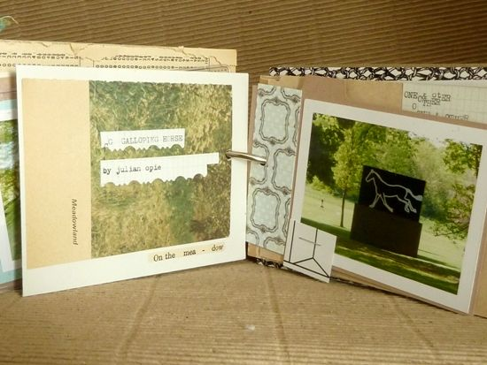 Junk Journaling: Inspiration from my 'May 2014' journal. Part 1:: The collaged and scrapbooked pages [By Julie Kirk]