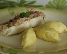 Dos de colin aux capres et poivre vert façon papillote  #cook #food #fish #ideerepas #cuisine #recettes