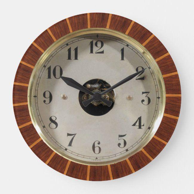 Wood Rim Vintage Wall Clock Zazzle Com In 2020 Vintage Wall