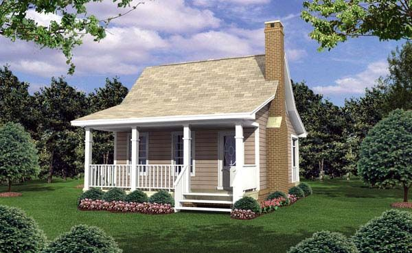 House Plan 59109 | Cottage Country Traditional Plan with 400 Sq. Ft., 1 Bedrooms, 1 Bathrooms at family home plans