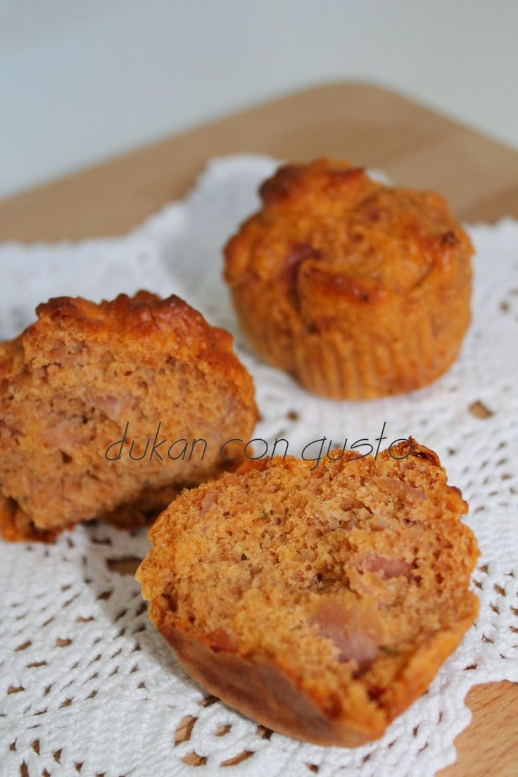 Dukan con Gusto: Muffin salati prosciutto cotto e pomodoro