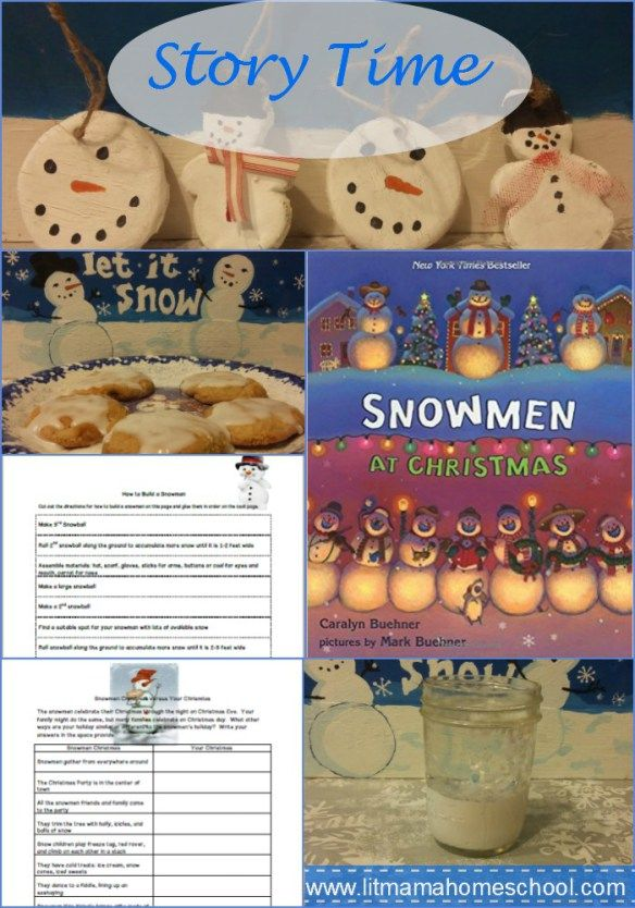 Story Time: Snowmen at Christmas - Crafts and activities to go with the picture book