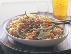 Apparently this is the best pad thai recipe ever... you can add tofu, chicken or shrimp