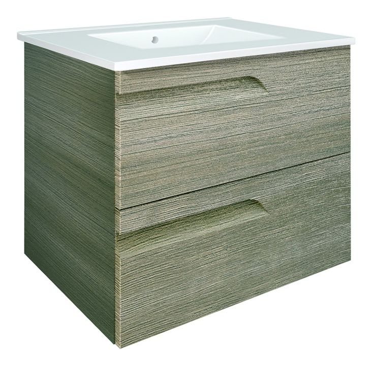 The Awesome Web Vitale Designer mm Bathroom Vanity Unit Fossil Grey RO Main Image