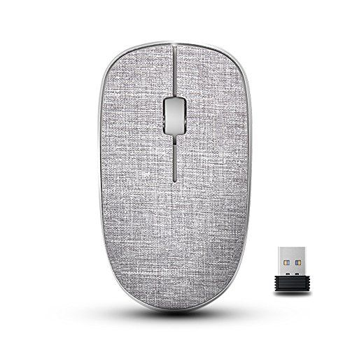 awesome RAPOO Wireless Mouse for Mac Laptop, Fabric Ergonomic Optical Computer Mice USB Nano Receiver- Heather Gray