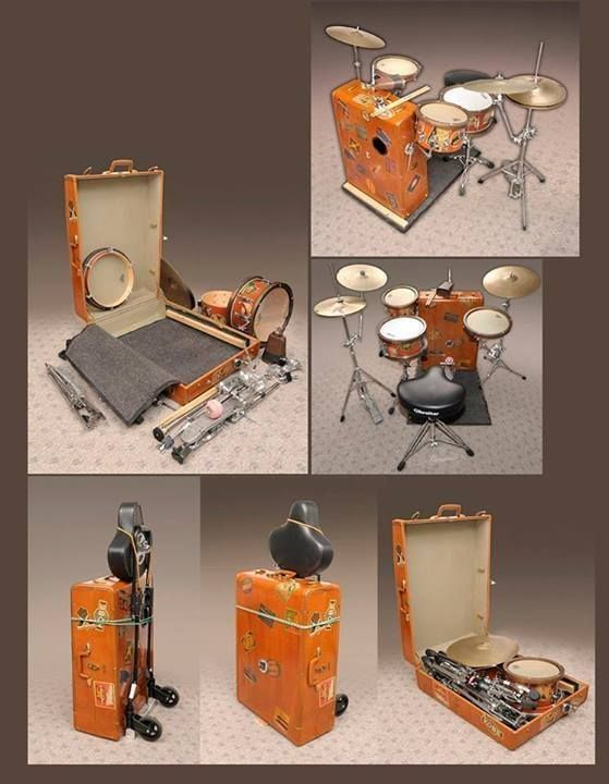 Suitcase drums
