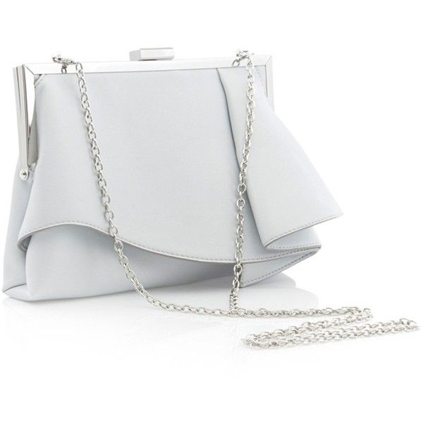 Coast Rae Ruffle Clutch Bag Silver 345 Hrk Liked On Polyvore Featuring Bags Handbags Clutches Evening Purse Man B