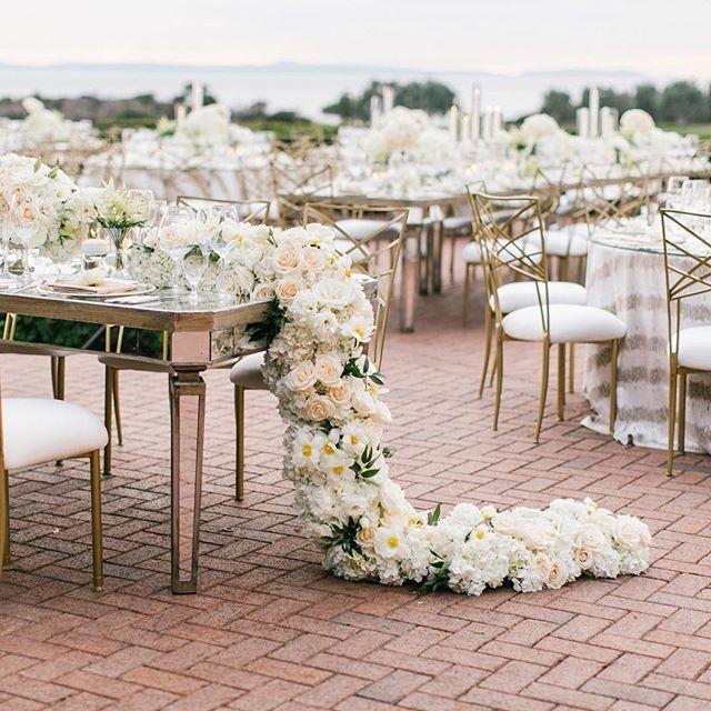 floral garland centerpiece.