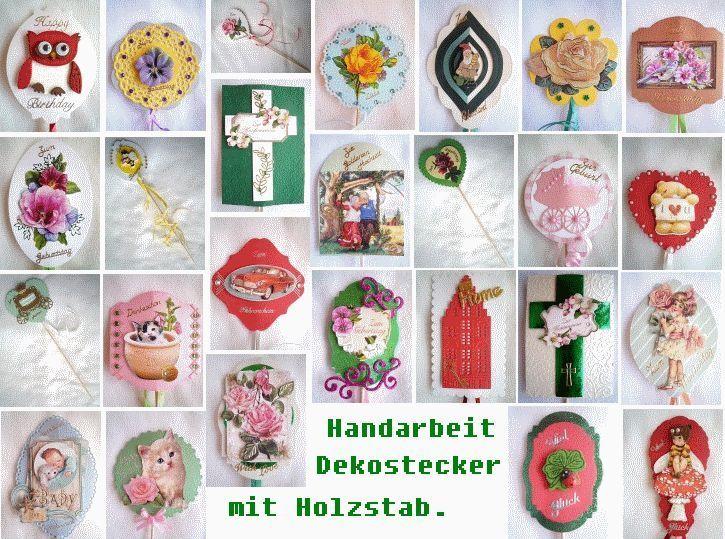 Blumenstecker  Dekostecker  Handarbeit   -  basteljulchen-renate