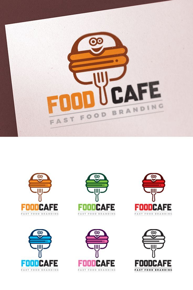 Fast Food Restaurant Logo Template 67324 In 2020 Logo Restaurant Restaurant Names Fast Food Logos
