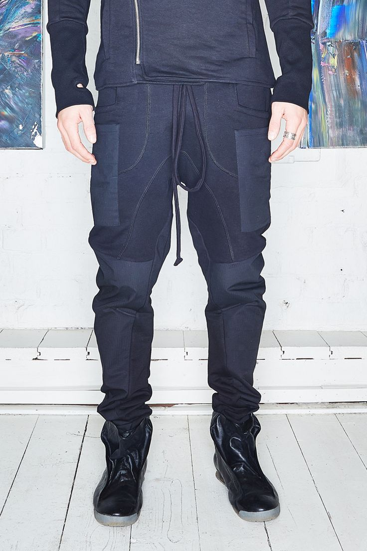 Jersey pants with inserts