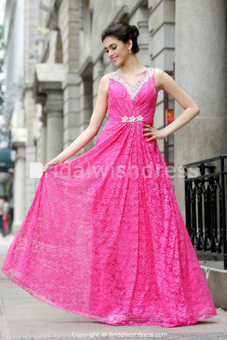 Brush/ Sweep Train Lace Silk-like Satin Special Occasion Dresses