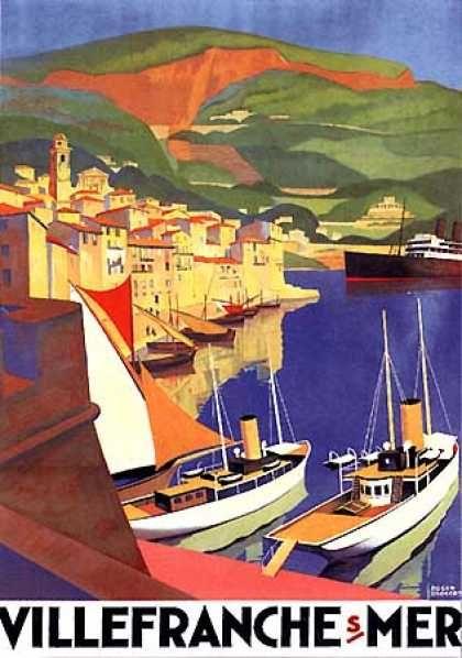 Villferanche Sur Mer by Roger Broders (1930) #essenzadiriviera