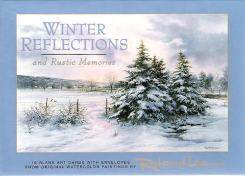 Winter Art Cards , Winter landscapes by Roland Lee in a boxed card set - Watercolor Paintings by Roland Lee