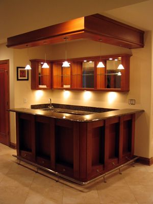 Attractive Basement Ideas For Small Places : Small Bar Basement Ideas For Small