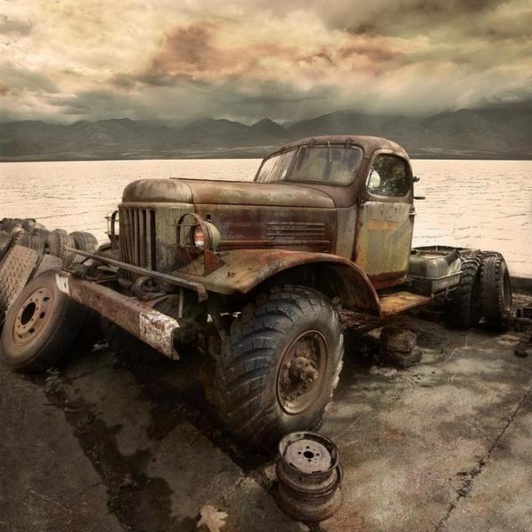 Old Trucks. needs a little help, but love them old trucks