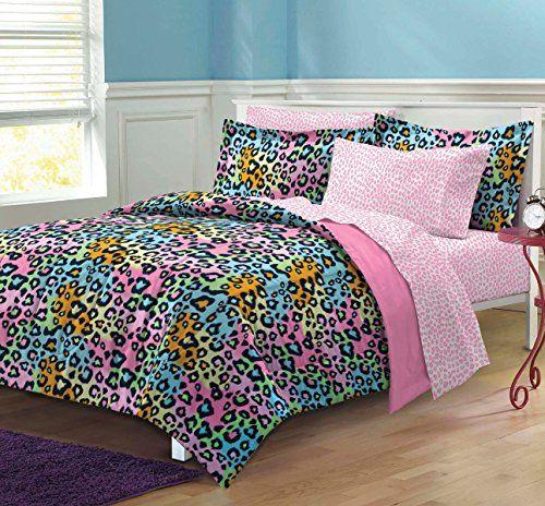 My Room Neon Leopard Ultra Soft Microfiber Girls Comforter Set, Multi-Colored, Twin/Twin X-Large My Room http://www.amazon.com/dp/B008K2AZ9G/ref=cm_sw_r_pi_dp_X0Ldvb1EJ7XNN