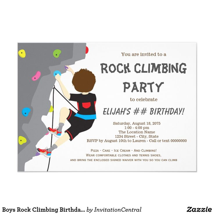 51 besten Rock Climbing Birthday Rock Climbing Birthday Party
