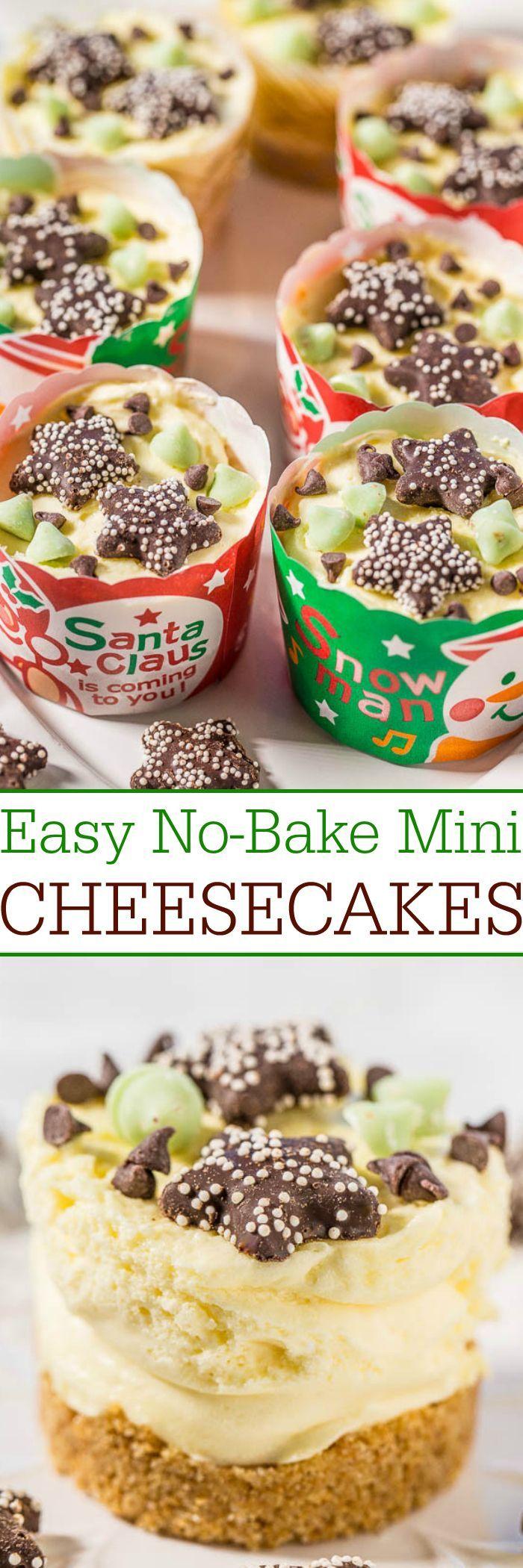 Easy No-Bake Mini Cheesecakes