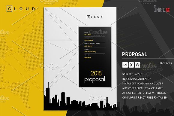 50 Page Full Proposal A4 / US Letter by Mastergfx on @creativemarket