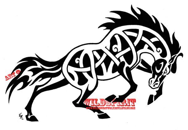 """Fierce Celtic Horse Tattooby *WildSpiritWolf  Designs & Interfaces / Tattoo Design©2009-2012 *WildSpiritWolf""    http://wildspiritwolf.deviantart.com/art/Fierce-Celtic-Horse-Tattoo-115734443#     http://snipurl.com/25t6bvw"